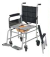Folding Wheel Chair with Commode Arm